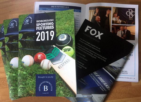 2019 Fixture Booklets
